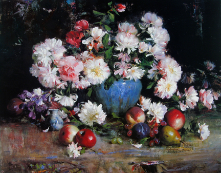 Cyrus Afsary - Chrysanthemums and Fruit