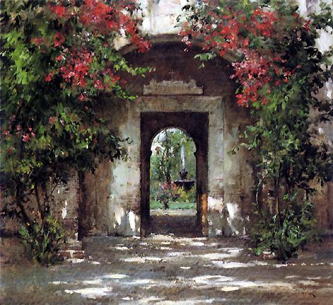 Cyrus Afsary - Flowered Doorway