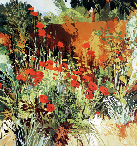 Douglas Atwill - West Drive Poppies with Achillea II