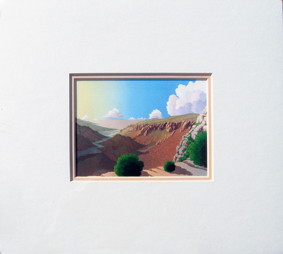 Doug West - Evening Song of Water Canyon - small matted print