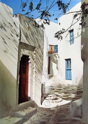 Evelyne   Brigeois - Mykonos, Fallen Leaves