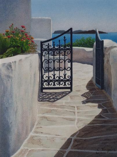 Evelyne   Brigeois  - Santorini Gate