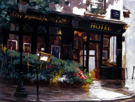 George Botich - A Small Hotel, Paris