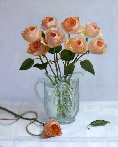 Jenny Kelley - English Roses in White