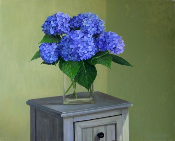 Jenny Kelley - Blue Hydrangeas From the Garden