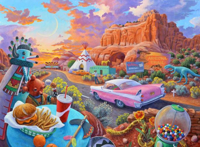 Stephen Morath - Sunset at the Arizona Line