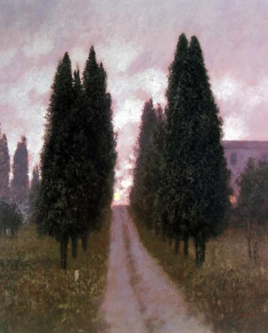 Raymond Knaub - Tuscan Moonrise