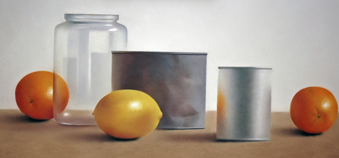 Robert Peterson - Two Oranges and Lemon with Cans and Jar