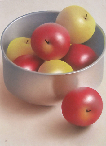 Robert Peterson - Apples in a Silver Bowl