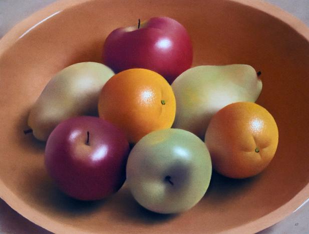 Robert Peterson - Mixed Fruit in a Wooden Bowl