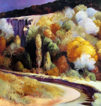 Robert Striffolino - Autumn Cliff, small version