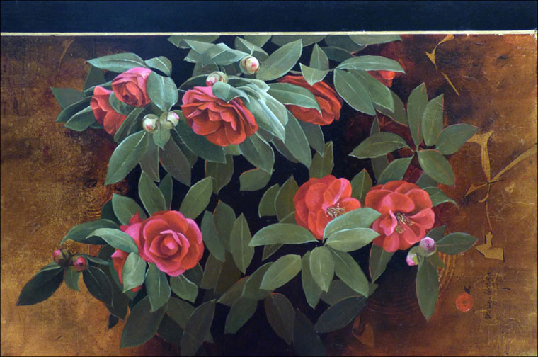 Sherry Loehr - Winter Red Camellias