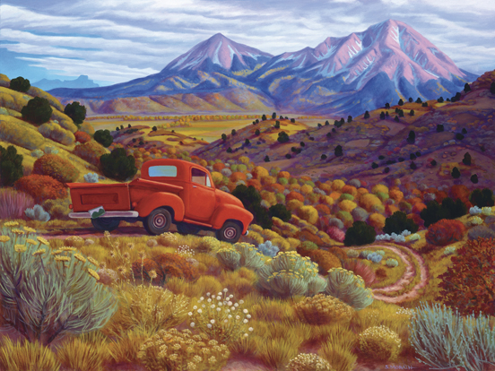 Stephen Morath - Autumn by the Spanish Peaks