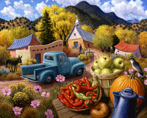 Stephen Morath - Village Autumn - Digital Prints