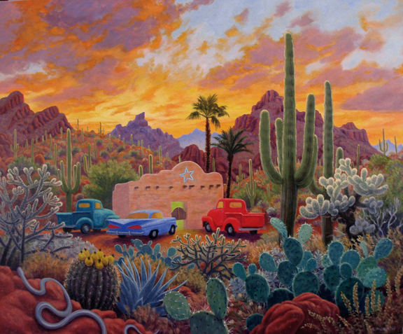 Stephen Morath - Happy Hour in Cactusland - Digital Prints