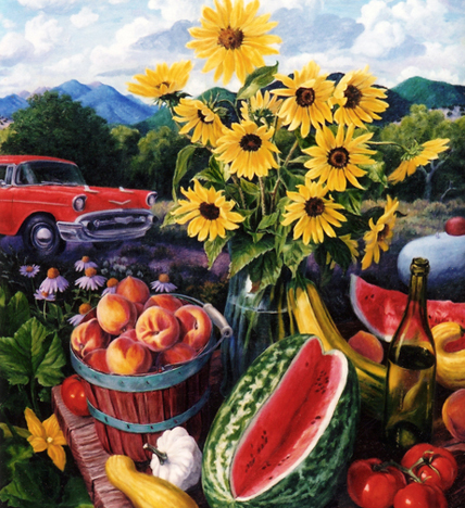 Stephen Morath - Sunflowers and Old Chevy