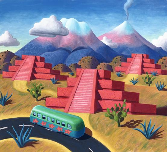 Stephen Morath - 3 Pink Pyramids
