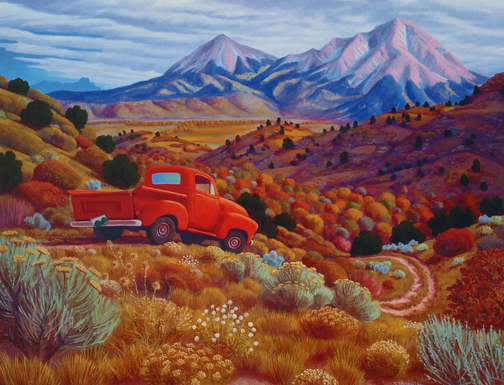 Stephen  Morath Small Prints - Autumn by the Spanish Peaks