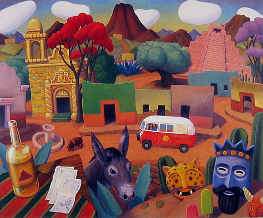 Stephen  Morath Small Prints - Gringos In Town
