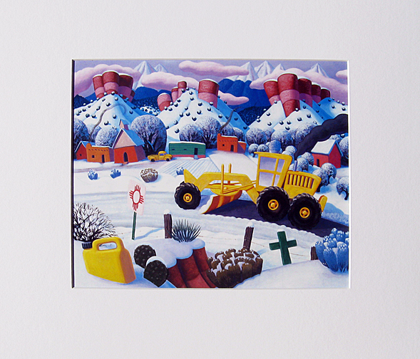 Stephen  Morath Small Prints - Plowing Up A Storm