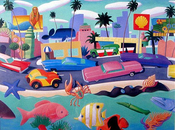 Stephen  Morath Small Prints - Ocean Boulevard